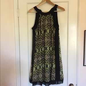 Tie back Green and Black Jonathan Martin Dress